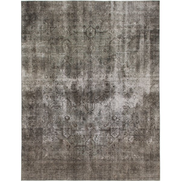 Hand Knotted Ultra Vintage Wool Area Rug - 9' 10 x 12' 10