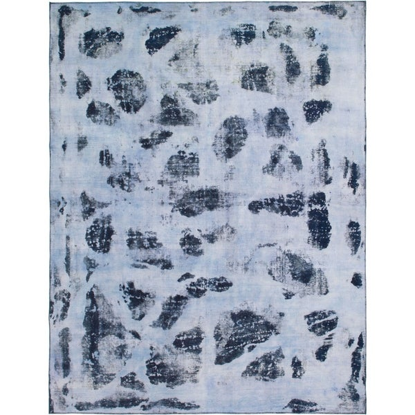 Hand Knotted Ultra Vintage Wool Area Rug - 9' 7 x 12' 6