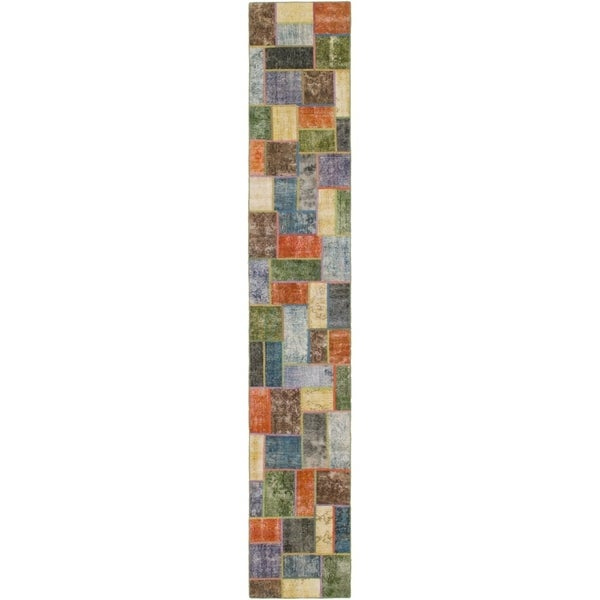 Hand Knotted Ultra Vintage Wool Runner Rug - 2' 8 x 16' 9