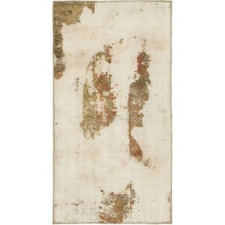 Hand Knotted Ultra Vintage Wool Area Rug - 2' 8 x 5'