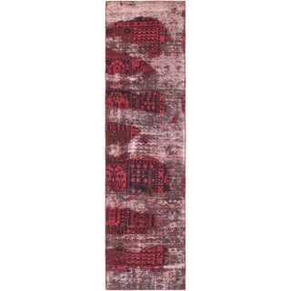 Hand Knotted Ultra Vintage Wool Runner Rug - 2' 7 x 9' 8
