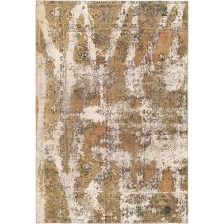 Hand Knotted Ultra Vintage Wool Area Rug - 6' 5 x 9' 4