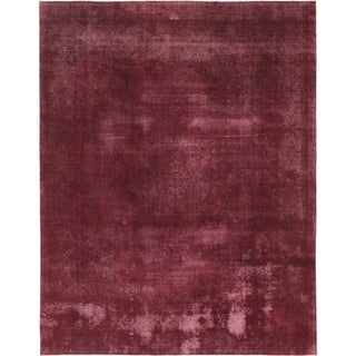 Hand Knotted Ultra Vintage Wool Area Rug - 9' 7 x 12' 5