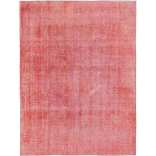 Hand Knotted Ultra Vintage Wool Area Rug - 9' 5 x 12' 7