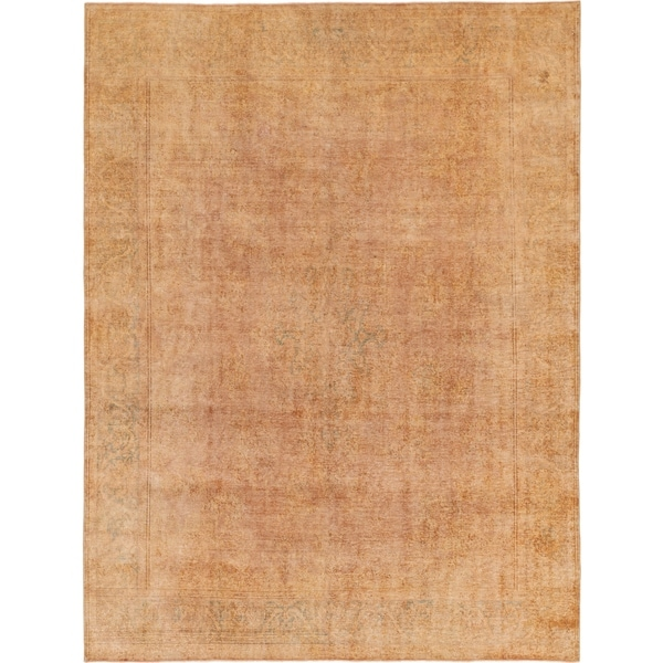Hand Knotted Ultra Vintage Wool Area Rug - 9' 8 x 12' 8