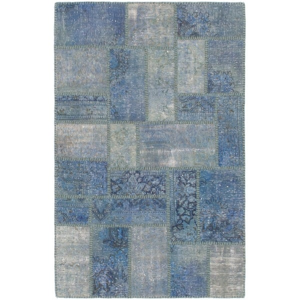 Hand Knotted Ultra Vintage Wool Area Rug - 3' 3 x 4' 2