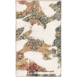 Hand Knotted Ultra Vintage Wool Area Rug - 2' 7 x 4' 3