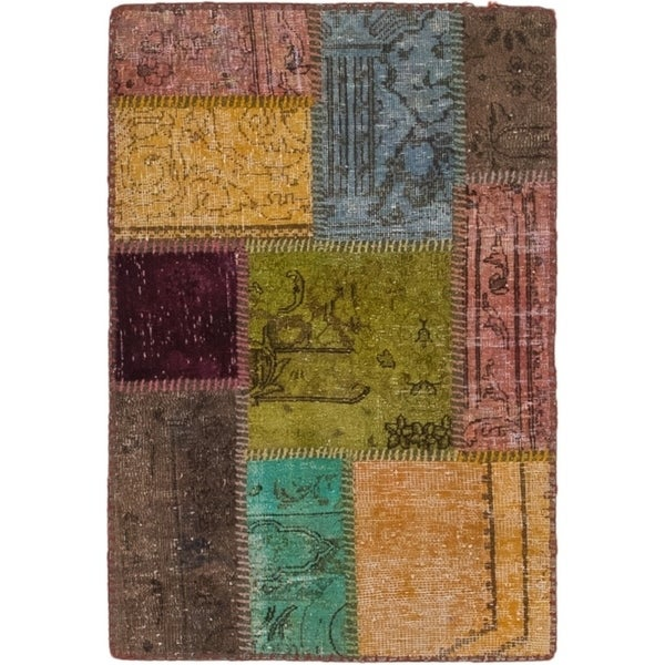 Hand Knotted Ultra Vintage Wool Area Rug - 2' x 3' 2