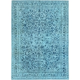 Hand Knotted Ultra Vintage Wool Area Rug - 9' 3 x 12' 9