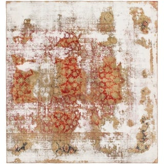 Hand Knotted Ultra Vintage Wool Square Rug - 8' 9 x 9' 4