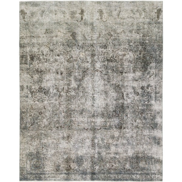 Hand Knotted Ultra Vintage Wool Area Rug - 7' 6 x 9' 4