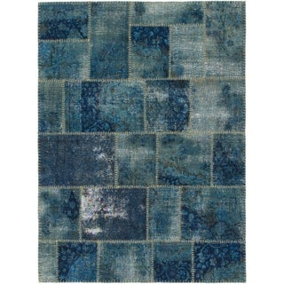 Hand Knotted Ultra Vintage Wool Area Rug - 5' x 6' 9