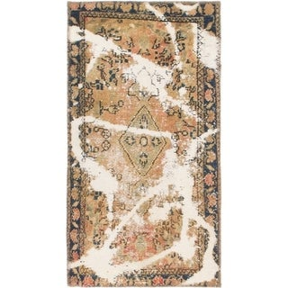 Hand Knotted Ultra Vintage Wool Area Rug - 2' x 3' 9