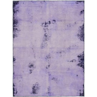 Hand Knotted Ultra Vintage Wool Area Rug - 4' 1 x 5' 7