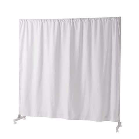"""Don't Look At Me - Expandable Privacy Room Divider - White Frame with White Fabric - 18.11""""W x 73.82""""H x 40.94""""L - 72.04''L"""
