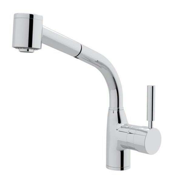 Rohl R7923 Pirellone Side Lever Kitchen Faucet with Sidespray