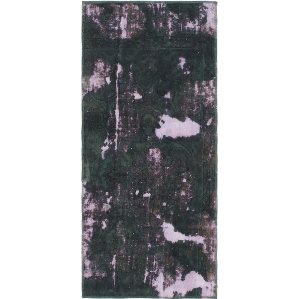 Hand Knotted Ultra Vintage Wool Area Rug - 2' 5 x 5' 6