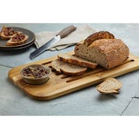 Anolon Pantryware Bread Board and Stoneware Dipping Dish Set, 2-Piece