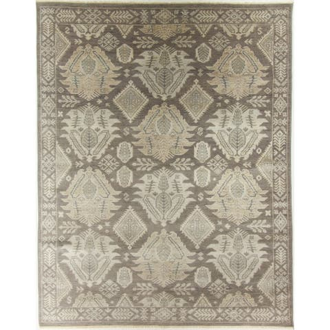 """Oushak Hand-Knotted Rug - 7'11"""" x 10'"""
