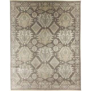 Oushak Brown Wool Handmade Rug - 7'11 x 10'0