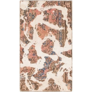 Hand Knotted Ultra Vintage Wool Area Rug - 2' 8 x 4' 9