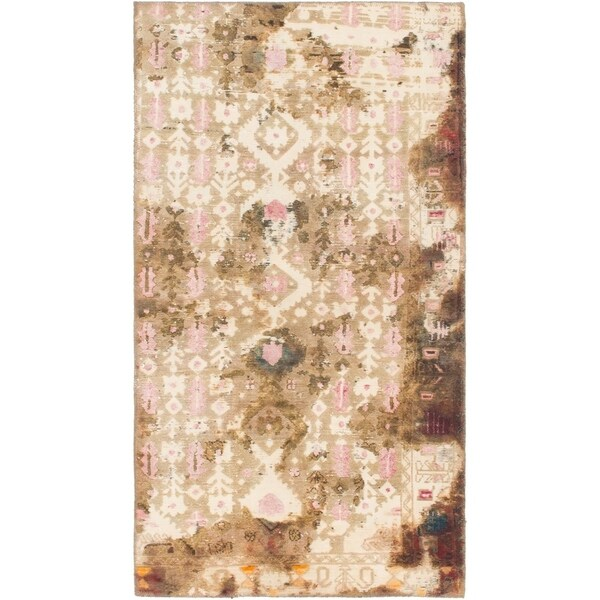 Hand Knotted Ultra Vintage Wool Area Rug - 3' x 5' 8
