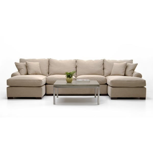 Made to Order Roche Studio Esmeralda Beige Fabric Sectional Sofa