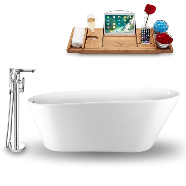 Tub, Faucet and Tray Set Streamline 65 Freestanding NH1521-120