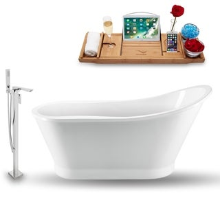 """Tub, Faucet and Tray Set Streamline 59"""" Freestanding NH1180-140"""
