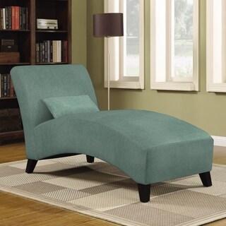 Handy Living Cara Turquoise Blue Velvet Chaise