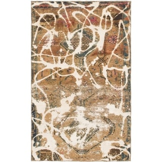 Hand Knotted Ultra Vintage Wool Area Rug - 3' 5 x 5' 7