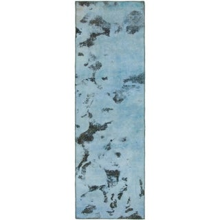 Hand Knotted Ultra Vintage Wool Runner Rug - 2' 7 x 8' 9
