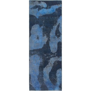 Hand Knotted Ultra Vintage Wool Runner Rug - 2' 7 x 7' 5
