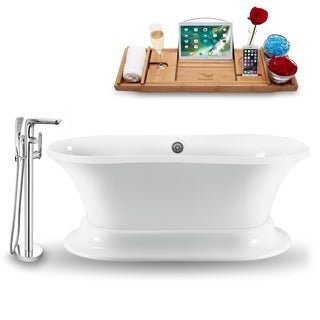 """Tub, Faucet and Tray Set Streamline 60""""  Freestanding NH1140CH-120"""