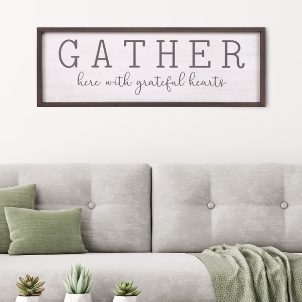 Shop Patton Wall Decor Gather With Grateful Hearts Rustic