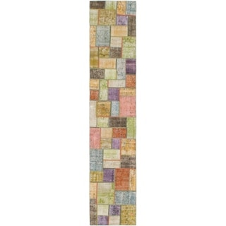Hand Knotted Ultra Vintage Wool Runner Rug - 2' 8 x 13' 9