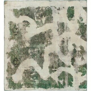 Hand Knotted Ultra Vintage Wool Square Rug - 5' 6 x 6'
