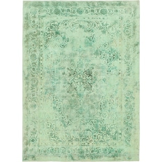 Hand Knotted Ultra Vintage Wool Area Rug - 7' 10 x 10' 10