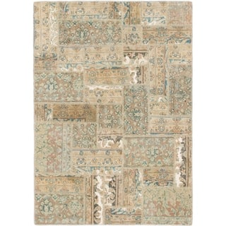 Hand Knotted Ultra Vintage Wool Area Rug - 4' x 5' 10