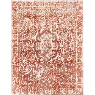Hand Knotted Ultra Vintage Wool Area Rug - 9' 3 x 12' 2