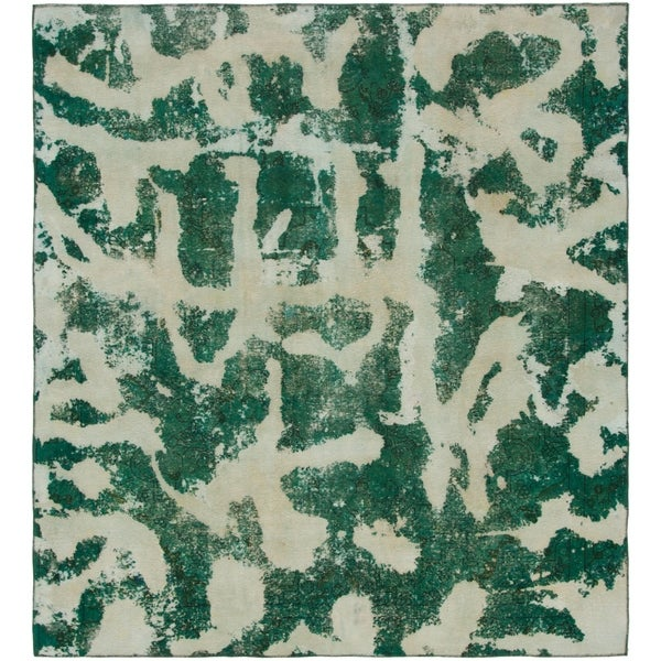 Hand Knotted Ultra Vintage Wool Square Rug - 8' 8 x 9' 5
