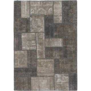 Hand Knotted Ultra Vintage Wool Area Rug - 3' 7 x 5' 2