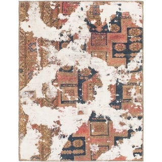 Hand Knotted Ultra Vintage Wool Area Rug - 3' 4 x 4' 3