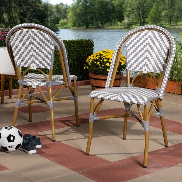 Indoor and Outdoor Stackable Dining Chair 2-Piece Set by Baxton Studio