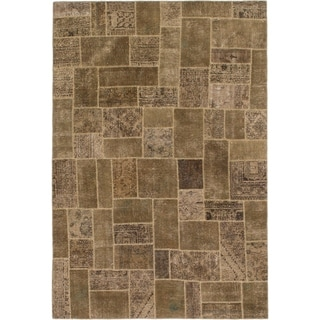 Hand Knotted Ultra Vintage Wool Area Rug - 7' x 10' 5
