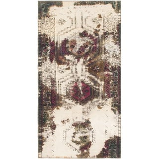 Hand Knotted Ultra Vintage Wool Runner Rug - 3' x 6'