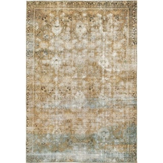 Hand Knotted Ultra Vintage Wool Area Rug - 8' x 11' 5