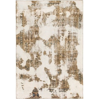 Hand Knotted Ultra Vintage Wool Area Rug - 5' 10 x 8' 6