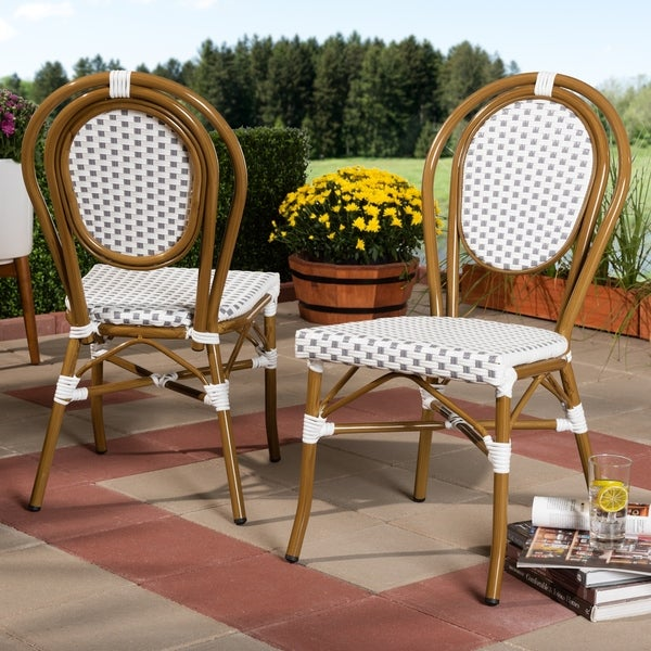 Indoor and Outdoor Stackable Dining Chair 2-Piece Set by Baxton Studio. Opens flyout.