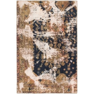 Hand Knotted Ultra Vintage Wool Area Rug - 3' 9 x 6'